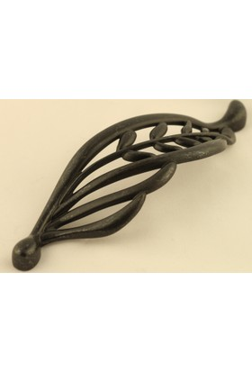 Yaprak Kulp 128Mm Antik Siyah