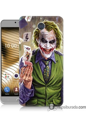 Teknomeg Casper Via A1 Kılıf Kapak Kartlı Joker Baskılı Silikon