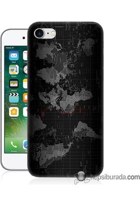 Teknomeg iPhone 7 Kapak Kılıf Harita Baskılı Silikon