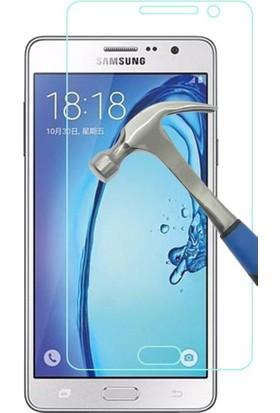 Teleplus Samsung Galaxy On7 Plastik Ve Cam Ekran Koruyucu Karışımı Cam Ekran Koruyucu