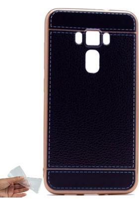 Teleplus Asus Zenfone 3 Deluxe Zs570Kl Suni Deri Dikişli Silikon Kılıf
