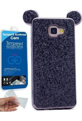 Teleplus Samsung Galaxy A3 2016 Micky Silikon Kılıf + Cam Ekran Koruyucu