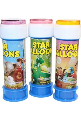 Köpüklü Üflemeli Baloncuk Star Alloons (5 Adet)