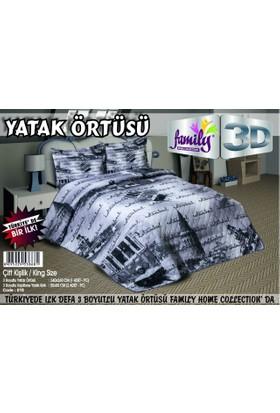 Family 3D Baskılı Çift Kişilik Yatak Örtüsü 018