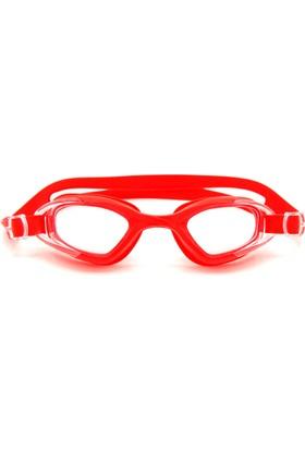 Delta GS3 Özel Dizayn Yetişkin Deluxe Yüzücü Gözlüğü Kırmızı