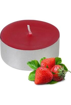 Tvshopmarket 25 Li Kokulu Kırmızı Tealight Mum