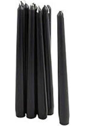 Tvshopmarket Siyah Şamdan Mum 12 Li Paket