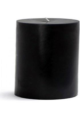 Tvshopmarket Siyah Silindir Mum (10X15 Cm)