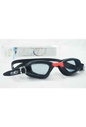 Povit Povit GS3 Yüzücü Gözlüğü-Siyah-Kırmızı