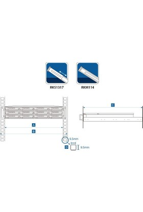 Synology Sliding Rail Kit For 1U,2U,3U Server Rks1317