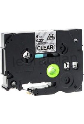 Sarf Muadil Brother P-Touch Tz-Tape 9Mm Şeffaf-Siyah Etiket 9Tze121