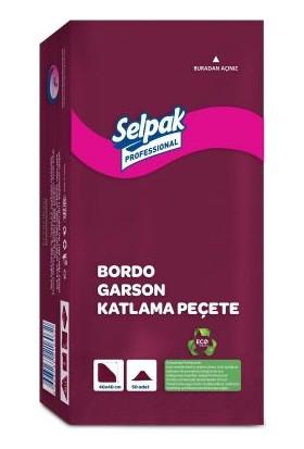 Selpak Garson Katlama Peçete 40X40 Bordo 50′Li 20 Paket (9681118)