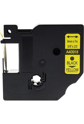 Sarf Muadil Dymo D1 Yedek Şerit 9Mm X 7Mt Sarı/Siyah 40918