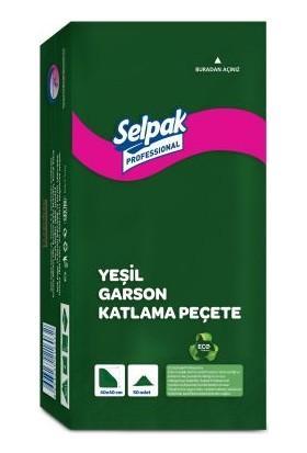 Selpak Garson Katlama Peçete 40X40 Yeşil 50′Li 20 Paket (9681119)