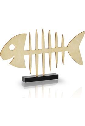 Purupa Kılçık Balık Ahşap Dekoratif Obje Hediyelik