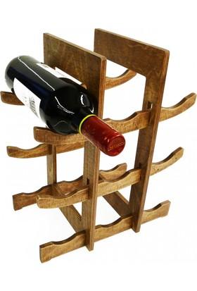 Purupa Ceviz 9'Lu Şarap Standı