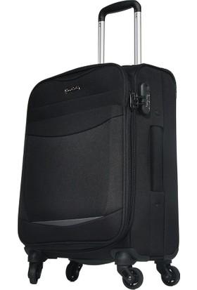 Pierre Cardin Kumaş Valiz Kabin Boy Siyah 2300