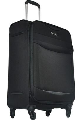 Pierre Cardin Kumaş Valiz Orta Boy Siyah 2300