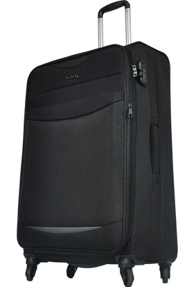 Pierre Cardin Kumaş Valiz Büyük Boy Siyah 2300