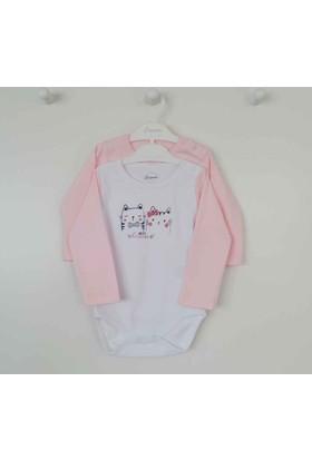 Premom 1037YA Kedicik 2li Kız Bebek Body