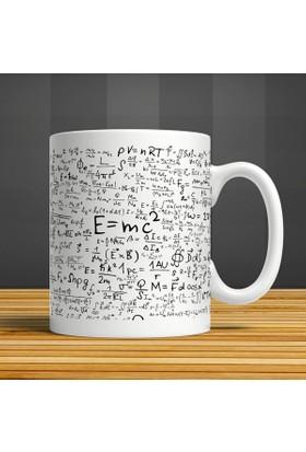 İf Dizayn E=Mc2 Formül Baskılı Kupa Bardak