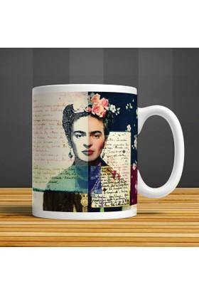İf Dizayn Frida Kahlo Diego Mektup Kupa Bardak