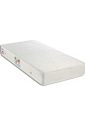 Derman Yatak Tek Kişilik Kumaş Baza + Başlık + Ekonomik Yatak 90x190