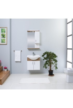 Kare Banyo Akyazı 55 Cm Banyo Dolabı Mdf