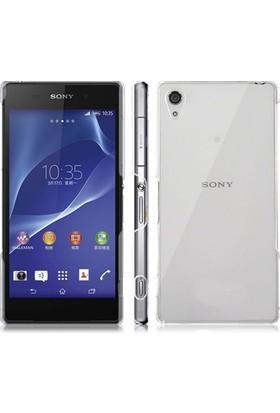 Blueway Sony Xperia Z1 Ekran Koruyucu + Şeffaf Silikon Kılıf