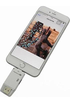 markacase iPhone 7 - 7 Plus İ-Reader Kart Okuyucu+Usb Connector