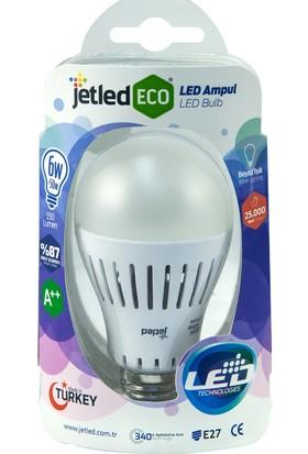Jetled Yüksek Verimli Led Ampul 6W 550 Lümen E27 Beyaz Işık