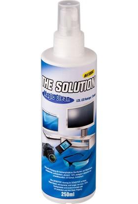 The Solution Lcd, Led, Ekran, Laptop, Tablet, Bilgisayar, Televizyon, Cep Telefonu, Gözlük, Kamera, Koruyucu Ve Parlatıcı Doğal Temizleme, Temizlik Seti – 250 ML + 30 ML Temizleyici - 5 SET