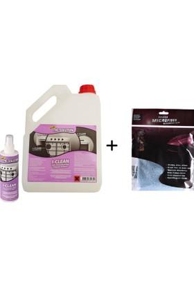 The Solutıon I-Clean 3 Lt Ankastre Inox Paslanmaz Çelik Beyaz Eşya Cam Fırın Ocak Temizleme,Temizleyici - Yağ Sökücü Temizlik (30*40 Microfiber Bez Hediyeli)