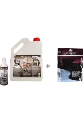 The Solutıon I-Pro 3 Lt Ankastre Inox Paslanmaz Çelik Beyaz Eşya Cam Fırın Ocak Parlatıcı Ve Koruyucu Bakım (30*40 Microfiber Bez Hediyeli)