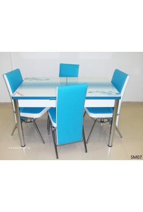 Teknoset Mutfak Masa Takımı Sm07Turkuaz