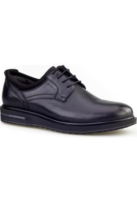 Cabani Bağcıklı Günlük Erkek Ayakkabı Siyah Flap Deri