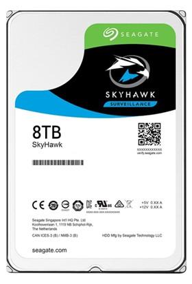 """Seagate Skyhawk 3.5"""" 8TB Sata 3.0 256MB 210Mb/s RV Sensör 7200Rpm 64HD Kamera 180TB/Yil Isyükü 7/24 Güvenlik Disk ST8000VX0022"""