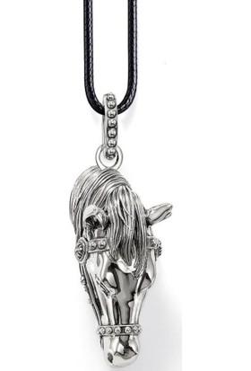 Modakedi Gümüş Kaplama Tasarım Erkek At Kolye
