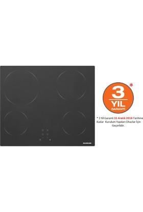 Silverline VC5337B01 4 Gözü Elektrikli Vitro Seramik Siyah Cam Ankastre Ocak