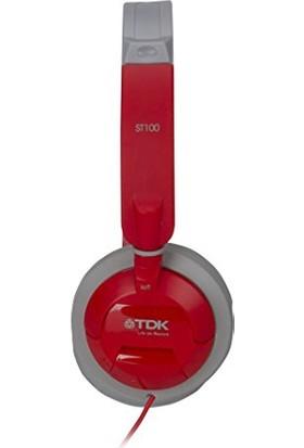 TDK ST100 Kulak Üstü Kırmızı Kulaklık