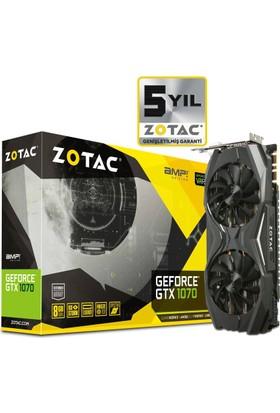 Zotac Nvidia GeForce GTX 1070 AMP Edition 8GB 256Bit GDDR5 (DX12) PCI-E 3.0 Ekran Kartı ZT-P10700C-10P