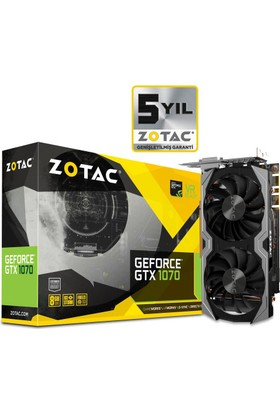 Zotac Nvidia GeForce GTX 1070 Mini 8GB GDDR5 (DX12) PCI-E 3.0 Ekran Kartı ZT-P10700G-10M