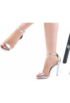Modabuymus Santenor Gümüş Platform Topuklu Ayakkabı