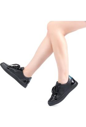 Modabuymus Cavaf Siyah Spor Sneaker Kadın Ayakkabı