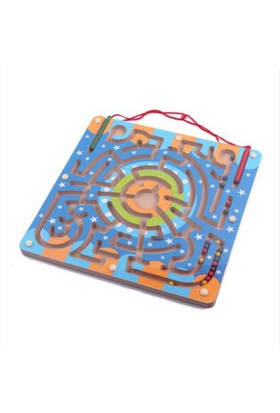 Kayıkcı eğitici Ahşap Oyuncak- Magnetik Labirent Oyunu