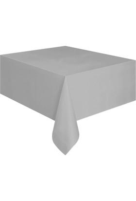 KullanAtMarket Silver Plastik Masa Örtüsü -1 Adet