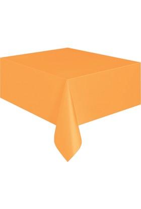 KullanAtMarket Turuncu Plastik Masa Örtüsü -1 Adet