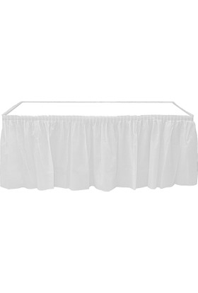 KullanAtMarket Beyaz Plastik Masa Eteği -1 Adet