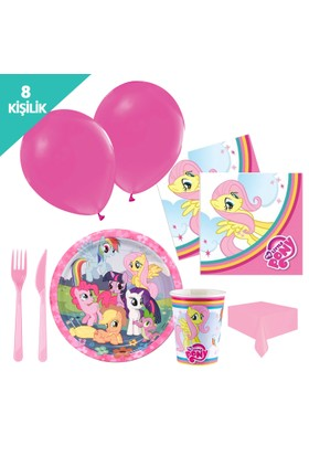 KullanAtMarket My Little Pony Parti Seti 8 Kişilik - 97 Adet