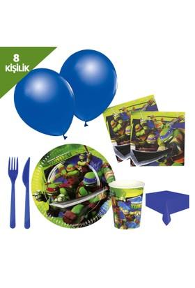 KullanAtMarket Ninja Turtles Parti Seti 8 Kişilik - 97 Adet